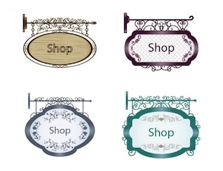 Old style shop signs pack