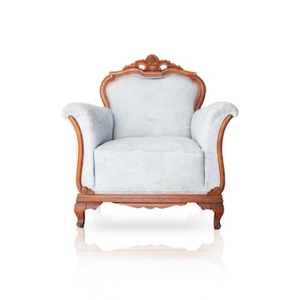 Old wooden armchair