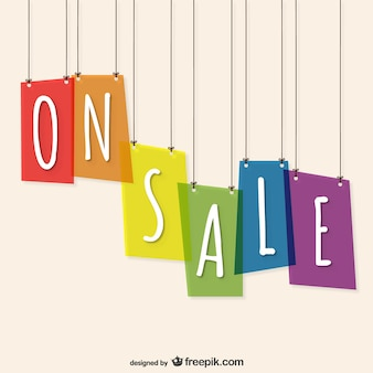 On sale vector template