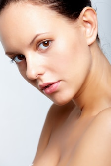 One adult facial female visage