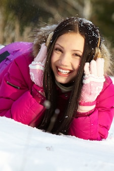 One expression smile winter cheerful
