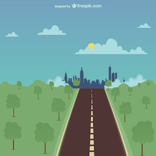 One road vector illustration