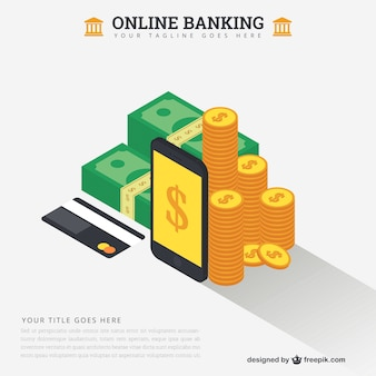 Online banking concept template