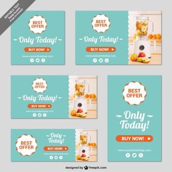 Online shop banner templates