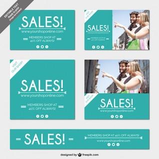 Online shop sales banners