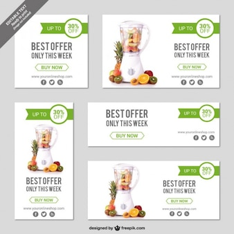 Online store banner templates