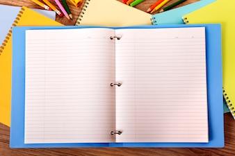 Open blank binder