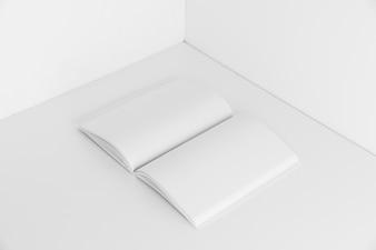 Open book in corner of room