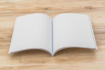 Open booklet
