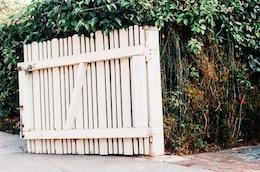 Open white wooden door
