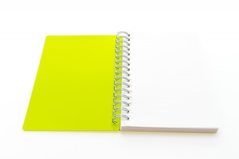 Open yellow notebook
