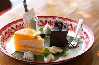 Orange Cake with orange topping