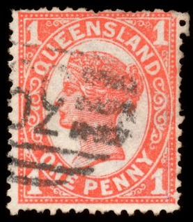 orange queen victoria stamp  stamp