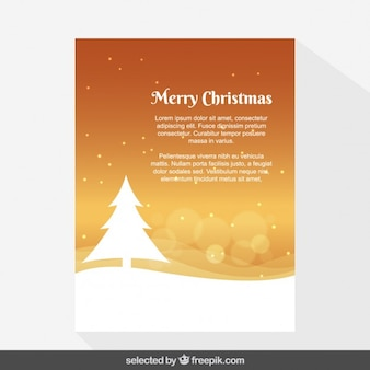 Orange snowy Christmas card