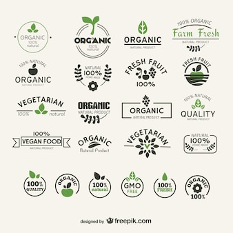Organic and natural food labels collection