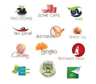 organic eco mixed logo type vector
