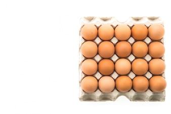朝食にオーガニック卵
