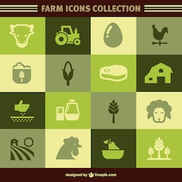 Organic farm vector icons