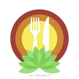 Organic food restaurant logo template