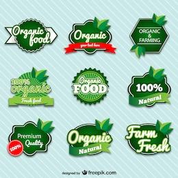 Organic premium badges set