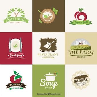 Organic restaurants badges