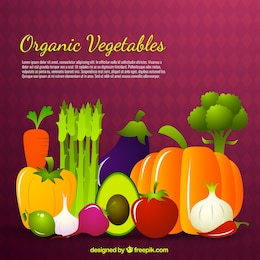 Organic vegetables background