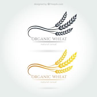 Organic wheat logos