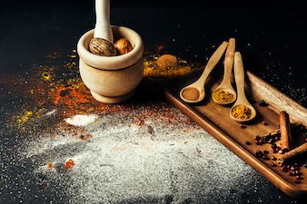 Oriental spices and nutmeg
