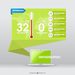 Origami infographic forecast presentation layout