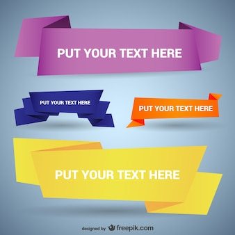 Origami style banner templates