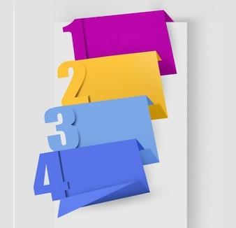 Origami vector numbers set