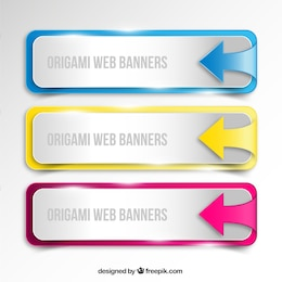 Origami web banners