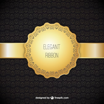 Ornamental background with elegant ribbon
