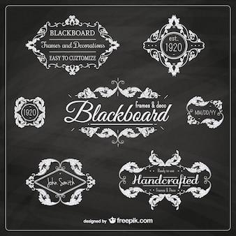 Ornamental blackboard badges