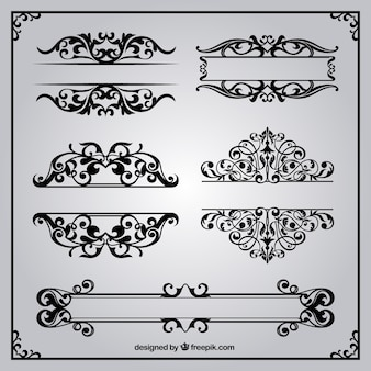 Ornamental borders in retro style