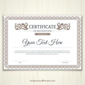 Ornamental certificate template