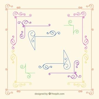 Ornamental colourful elements