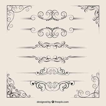 Ornamental dividers collection