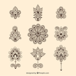 Ornamental flowers collection