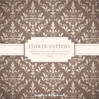 Ornamental flowers pattern