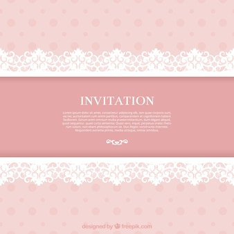 Ornamental invitation in lacy style
