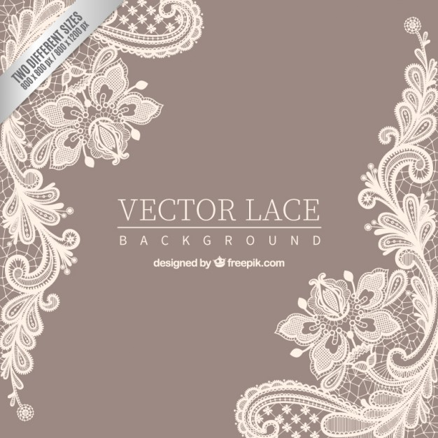 Ornamental lace background