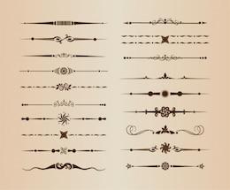Ornamental lines vector dividers