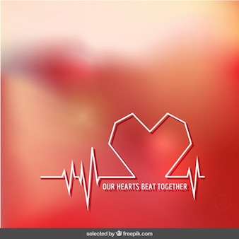 Our hearts beat together background