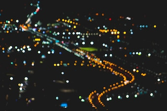 Out of focus bokeh city