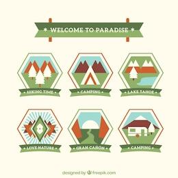 Outdoor adventure badges