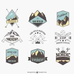 Outdoor sports badges