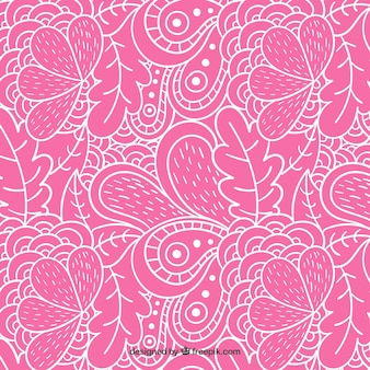 Outlined floral pattern