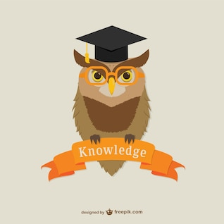 Oxford University owl vector