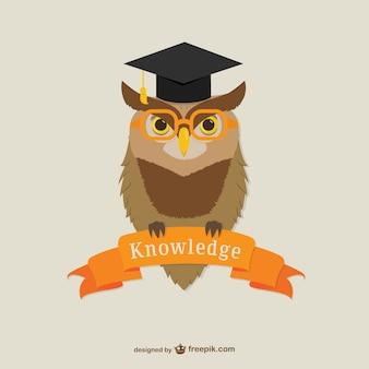 Oxford University owl vector
